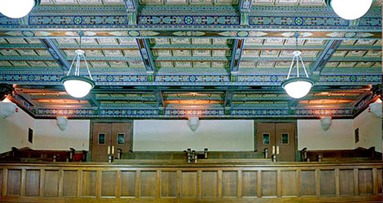photo of a courtroom interior