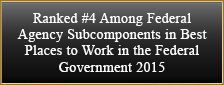 Ranked #4 Among Federal Agency Subcomponents in Best Places to Work in the Federal Government 2015
