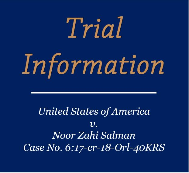 Salman Trial Information