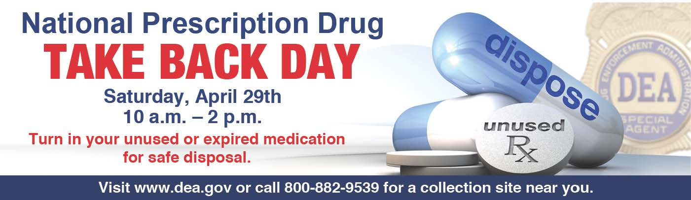DEA RX Take Back Day 2018