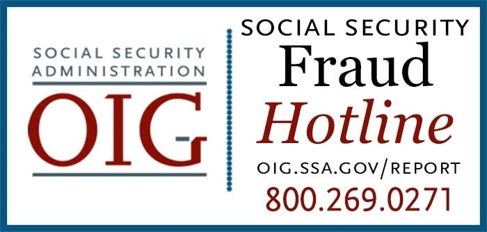 Social Security / Office of Inspector General Fraud Hotline Logo