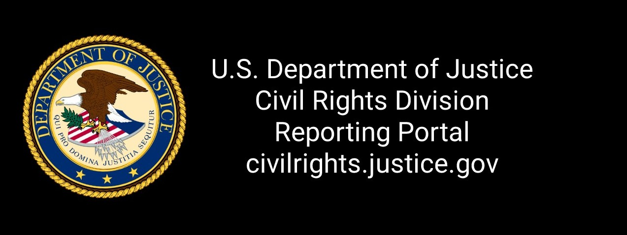 doj civil rights web portal