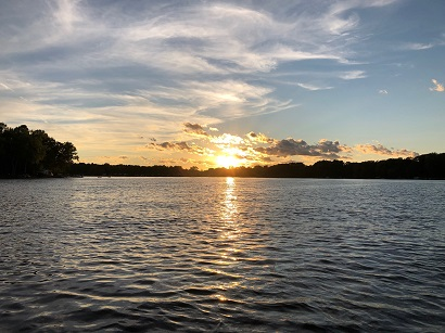 Picture of Sunset over Eagle Lake Paw Paw, Michigan