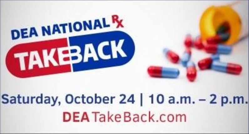 DEA Drug Take Back 2020 image