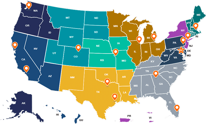 CRS has a Headquarters office in Washington, D.C., ten regional offices, and four field offices which support work within their