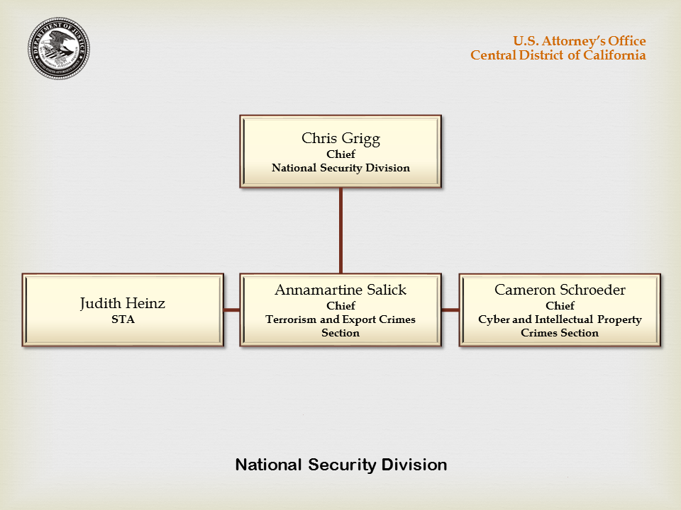 National Security Division Organization Chart
