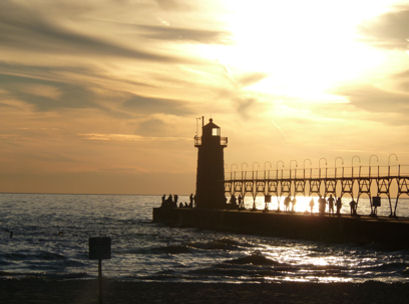 Picture of lighthouse in South Haven, MI