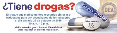 DEA Día nacional para entregar medicamentos recetados 2016