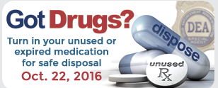 Drug Take Back Day October 22, 2016