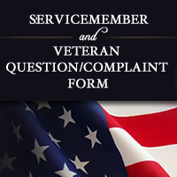 Servicemember and Veteran Question/Complaint Form