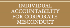 INDIVIDUAL ACCOUNTABILITY  FOR CORPORATE MISCONDUCT