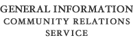 General Information Community Relations Service