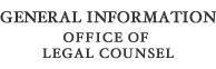 General Information Office of Legal Counsel