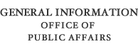 General Information for the Office of Public Affairs
