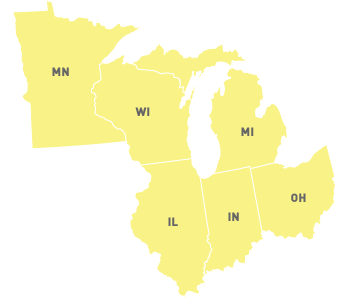 Graphical Representation of Midwestern Region