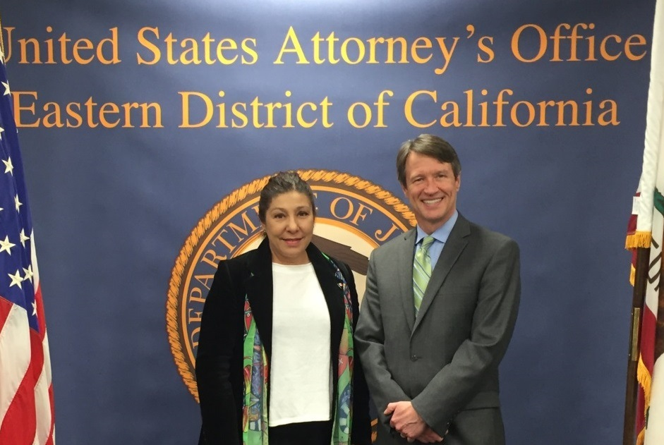 On February 22, 2015, US Attorney Wagner met with Mexican Consul General Alejandra Garcia Williams to discuss opportunities to collaborate on issues of concern for the Latino Community, such as ‪human trafficking‬, fraud and discrimination