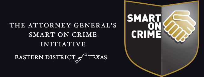 Smart on Crime Banner for Texas