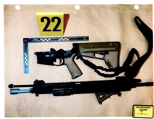 Ruger .223 assault rifle used by Davenport to shoot at pursuing officers of the McCall Police Department.
