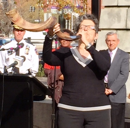 The shofar is sounded to open the prayer vigil
