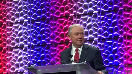 Attorney General Sessions speaks at the 30th DARE Training Conference