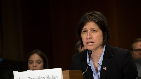 U.S. Attorney Christina Nolan of the District of Vermont delivers testimony on the dangers of fentanyl before the Senate Subcommittee on Crime and Terrorism