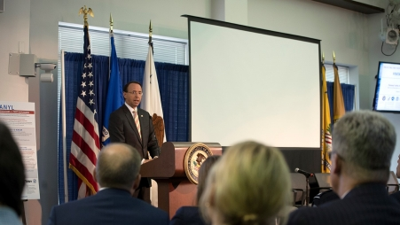 """Exposure to synthetic opioids like fentanyl is one of the most dangerous threats facing law enforcement officers,"" Deputy Attorney General Rod J. Rosenstein said"