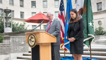 Deputy Attorney General Jeffrey A. Rosen delivers remarks on the 18th anniversary of the September 11th terrorist attacks