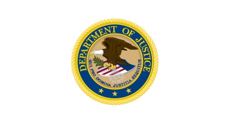 Department of Justice Seal on a pure white background