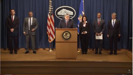 AG at podium