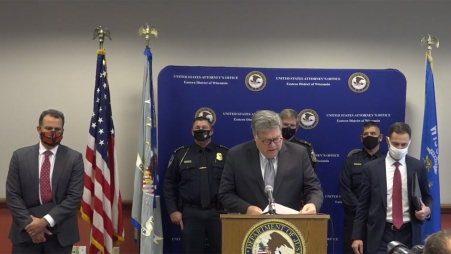 A.G. William P. Barr Announces Updates on Operation Legend at Press Conference in Milwaukee