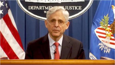 AG Garland at podium