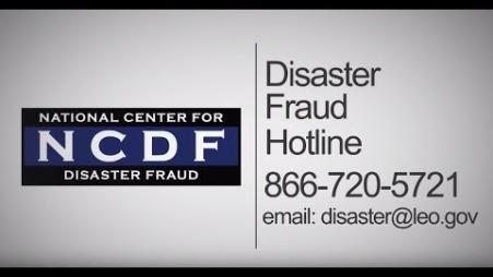 Embedded thumbnail for PSA: National Center for Disaster Fraud