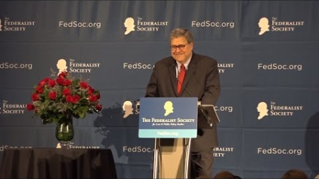Embedded thumbnail for Attorney General Barr delivers 19th annual Barbara K. Olson Memorial Lecture at the 2019 National Lawyers Convention