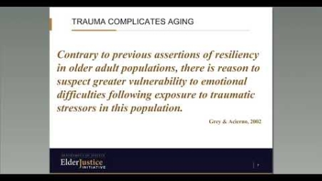 Embedded thumbnail for An Introduction to ACES and Elder Abuse