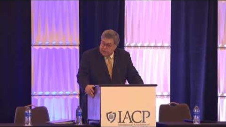 Embedded thumbnail for Attorney General Barr speaks at the IACP Officer Safety and Wellness Symposium