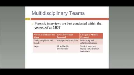 Embedded thumbnail for Forensic Interviewing With Older Adults