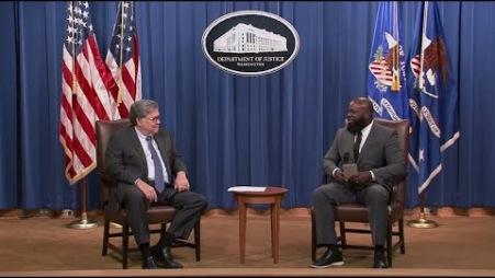 Embedded thumbnail for Ja'Ron Smith, Deputy Assistant to the President, Interviews Attorney General William P. Barr