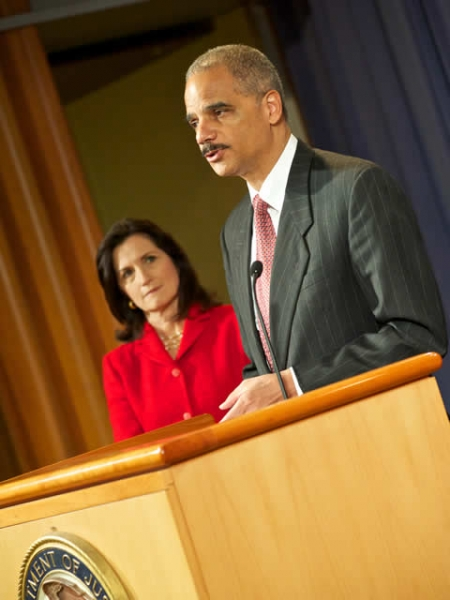 AG Holder announces that the Department has filed a civil antitrust suit against American Express, Visa, and MasterCard.