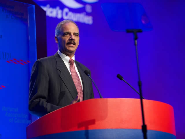 Attorney General Eric Holder speaks
