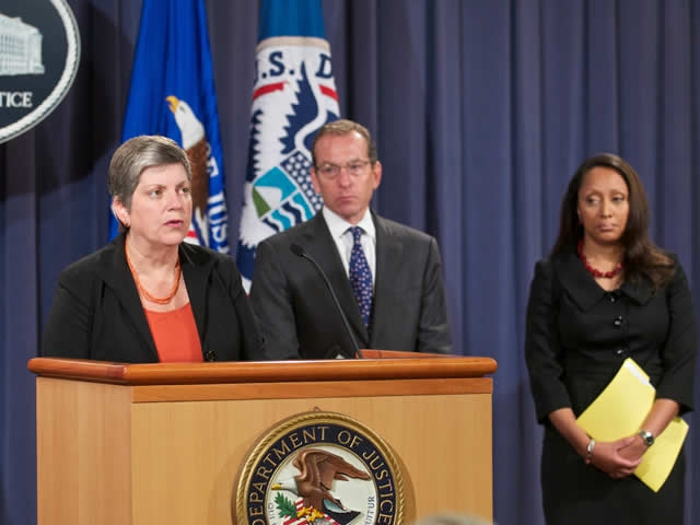Department of Homeland Security Secretary Janet Napolitano offers her remarks at the Operation Delego Press Conference