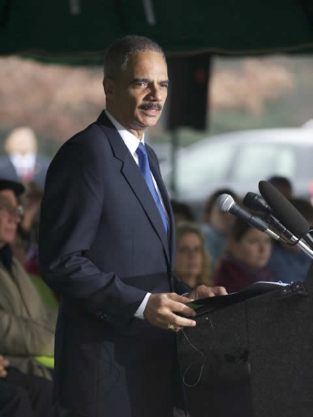 Attorney General Holder delivers remarks at the Pan Am Flight 103 Memorial Service.
