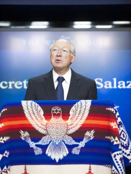 ADepartment of the Interior Secretary Ken Salazar