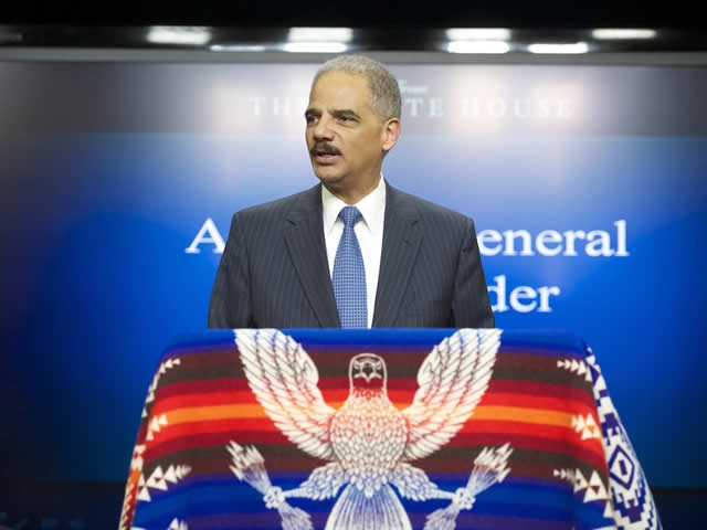 Attorney General Eric Holder speaks to the 'meaningful, measurable progress' achieved in reaching the Tribal Case settlements.