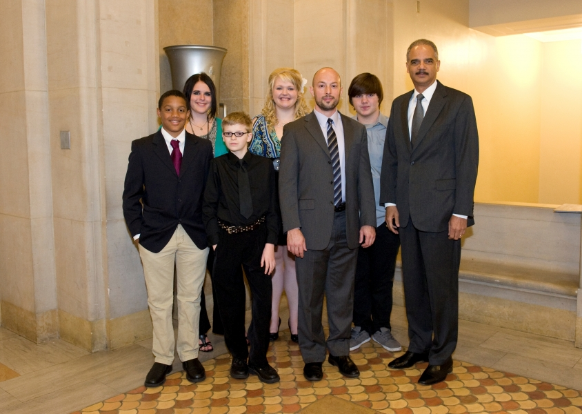 Students from the Anoka-Hennepin School District in Minnesota were presented with the Gerald B. Roemer Community Service Award for their outstanding contributions to the LGBT community and success in resolving harassment of middle and high school LGBT students in their school district.