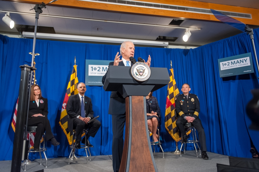 Vice President Biden discusses the need for proactive initiatives that seek to preclude domestic violence.