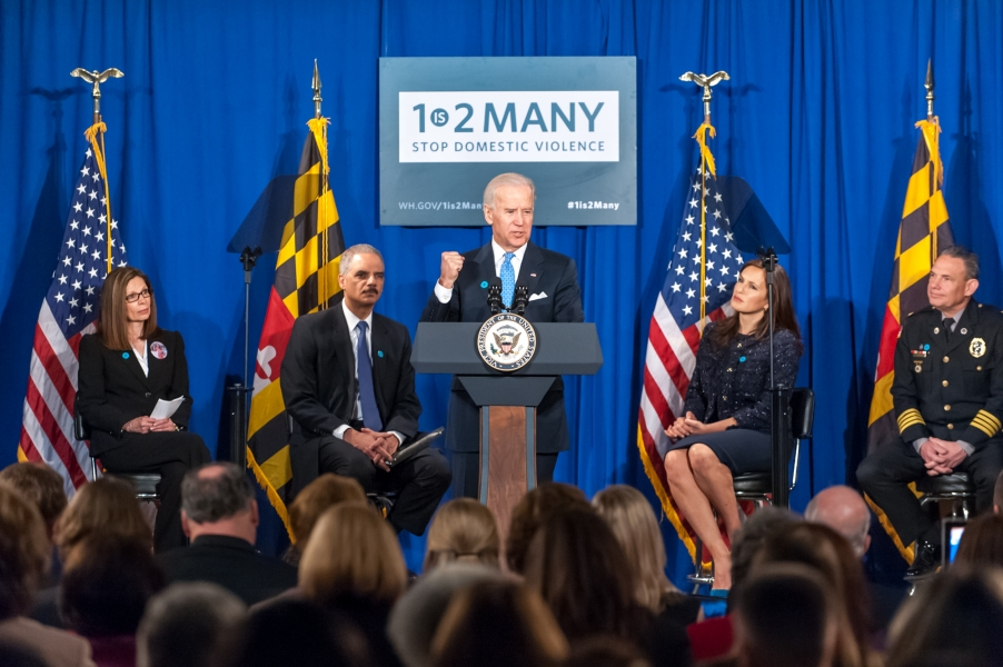 VP Joe Biden lends his support to the Initiative and recognizes  law enforcement in their fight against domestic violence.