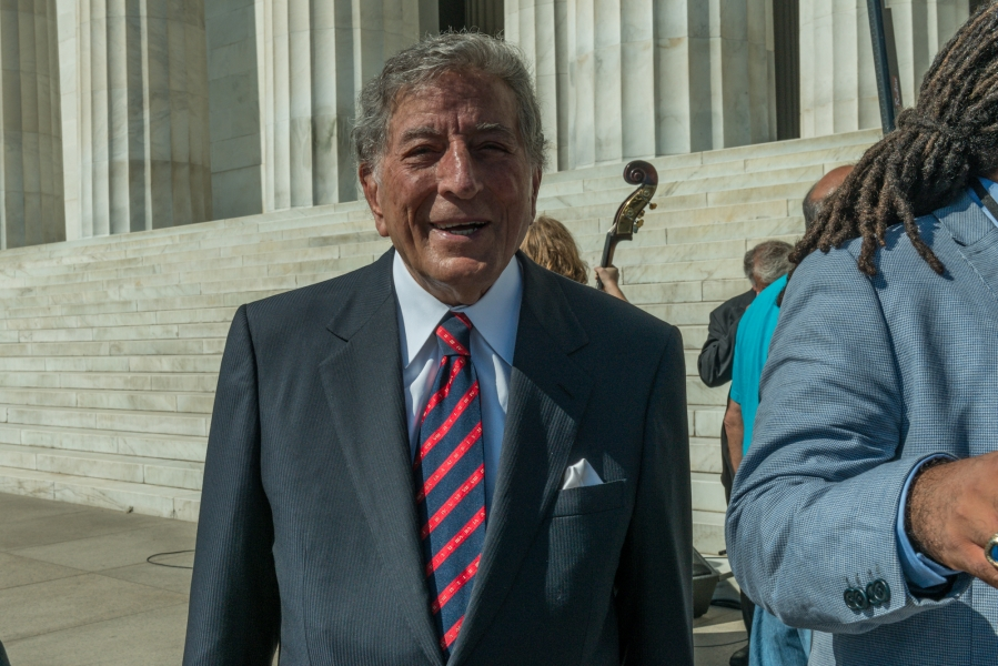Tony Bennett performed for the crowd on the National Mall
