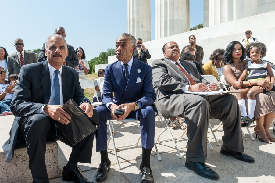 Attorney General with Reverend Al Sharpton and Martin Luther King III