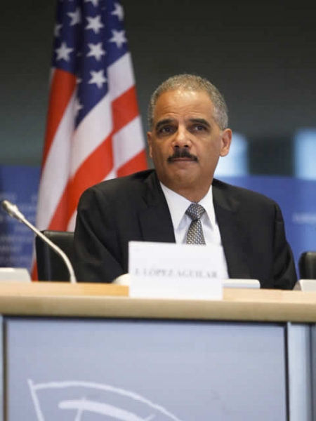 Attorney General Holder spoke about the many collaborations with international partners.