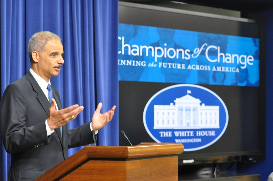 AG Holder speaks about the importance of families and fatherhood